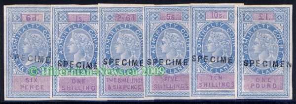 Admiralty Court, 1868 wmk. Scales imperforate