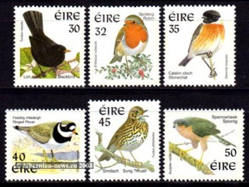 1999-2001 ISSP phosphor Birds 30p - 50p **
