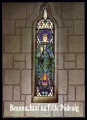 1989 St. Patricks Day card, stained glass window SAMPLE