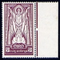 1940-68 St. Patrick 5/- on cream paper watermark inverted