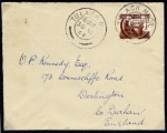 1944 Michael OCleary 1/- on cover, first day issue