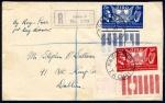 1939 US Constitution set, pane corner singles on FDC