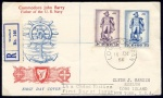 1956 Commodore Barry set on First Day Cover