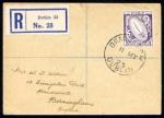 1923 wmk. Se 5d purple, Dublin First Day cds