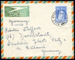 1950 Holy Year 3d on Airmail cover