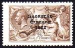 1922 Thom 3-line Overprint on 2/6 Seahorse