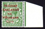 1922 Dollard Overprint, proof in RED on ½d green