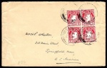 1923 wmk. Se 1d red on First Day Cover