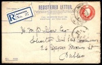 Transition: 1922 GB Registered Envelope 5d orange, size G