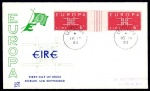 1963 Europa set in gutter pairs on FDC