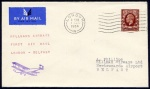 1934 Hillman Airways First Airmail from London to Belfast