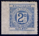 Ballycastle Railway 1904 2d light blue from Die III