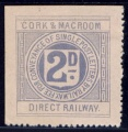 Cork & Macroom Direct Railway 2d pale blue