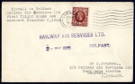 1935 Cover Liverpool to Belfast, First Flight