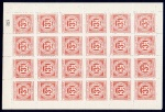 Cavan & Leitrim Railway Co. 1920 3d rose-carmine sheet of 24