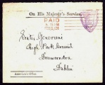 1912 OHMS envelope with Crowned S.C.J. Spade