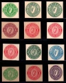 1924-39 Reference collection of mint cut-outs to 1/-.