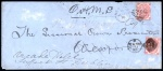 1870 Long legal cover New Ross to Wexford Town