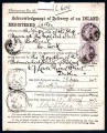 1897 OHMS Acknowledgement of Receipt for Registered Letter