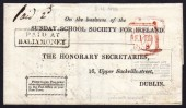 1838 Sunday Schools Society PAID AT / BALLYMONEY