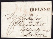 1785 EL Dublin to London with superb IRELAND
