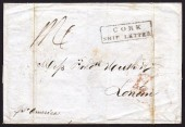 1840 EL to London with CORK / SHIP LETTER