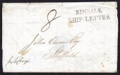 1840 Wrapper with very clear KINSALE / SHIP - LETTER