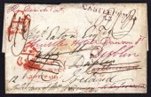 1826 EL Bath to Dublin with T-OFF / POSTAGE TO DUBLIN / NOT PAID