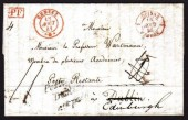1841 EL from Switzerland with Postage to / Dublin / not paid